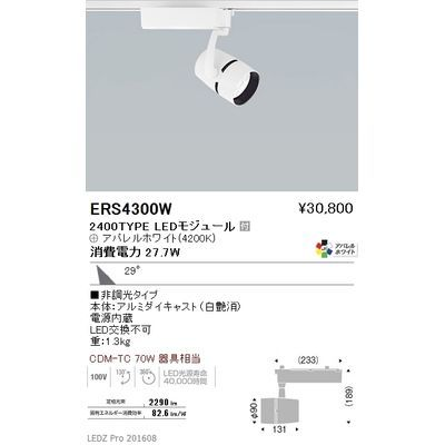 遠藤照明 LEDZ ARCHI series スポットライト ERS4300W