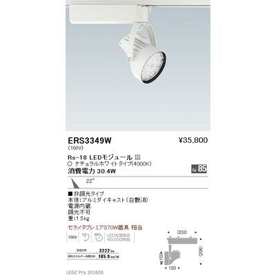 遠藤照明 LEDZ Rs series スポットライト ERS3349W