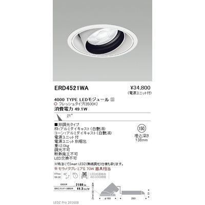 遠藤照明 LEDZ ARCHI series 生鮮食品用照明(ユニバーサルダウンライト) ERD4521WA