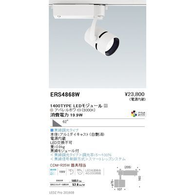 遠藤照明 LEDZ ARCHI series スポットライト ERS4868W