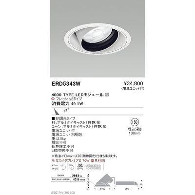 遠藤照明 LEDZ ARCHI series 生鮮食品用照明(ユニバーサルダウンライト) ERD5343W