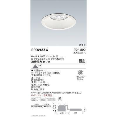 遠藤照明 LEDZ Rs series 防湿形ベースダウンライト ERD2655W