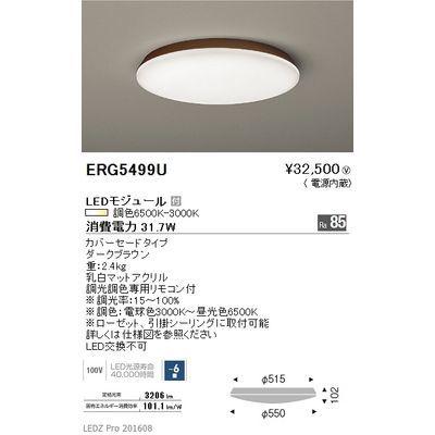 遠藤照明 LEDZ 調光調色シリーズ 調光調色シーリングライト ERG5499U