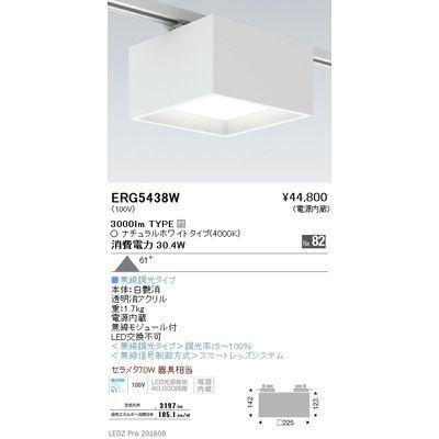 遠藤照明 LEDZ HIGH-BAY series/LEDZ Mid Power series スクエアシーリングライト(プラグタイプ) ERG5438W