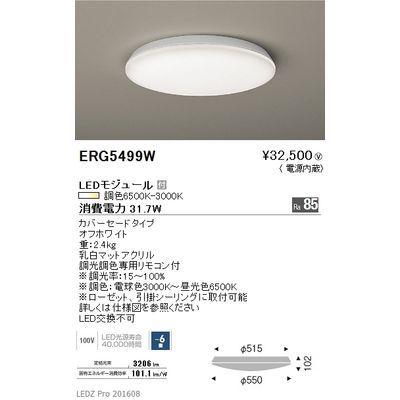 遠藤照明 LEDZ 調光調色シリーズ 調光調色シーリングライト ERG5499W
