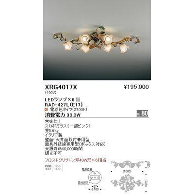 遠藤照明 シャンデリアライト〈LEDランプ付〉 XRG4017X