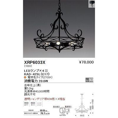 遠藤照明 ペンダントライト〈LEDランプ付〉 XRP6033X