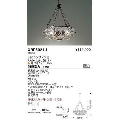 遠藤照明 ペンダントライト〈LEDランプ付〉 XRP6021U