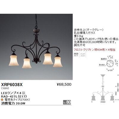遠藤照明 ペンダントライト〈LEDランプ付〉 XRP6038X