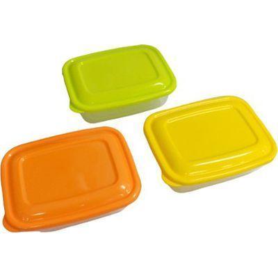 タケヤ化学工業 プラスチック 保存容器 カラフルライトパック 500ml 3個組【72個セット】 4904776107719【納期目安:1週間】