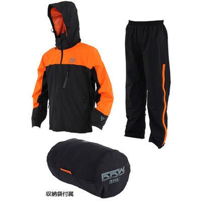 DOPPELGANGER ライダーズレインウェアDRW308M-DP M/ブラックxオレンジ fe301-M/BKxOR