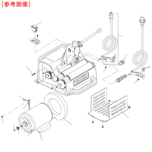 Ridge Tool Compan RIDGID モーター カバー F122J 94862