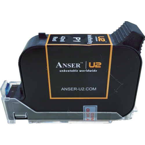 山崎産業 テクノマーク U2用42ccインク 赤 AU2030018