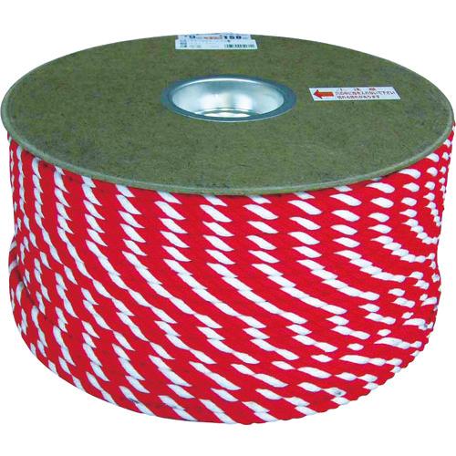ユタカメイク ユタカメイク アクリル紅白ロープ 12mm×100m PRZ65