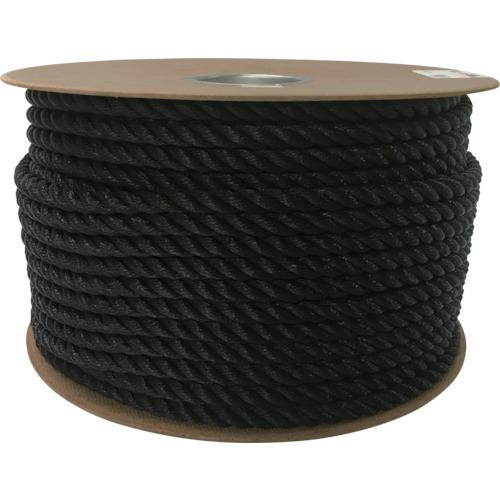 ユタカメイク ユタカメイク ポリエチレンロープドラム巻 12mm×100m ブラック PRE64