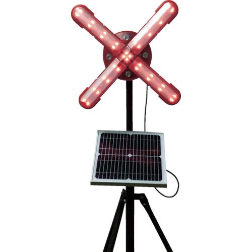 仙台銘板 仙台銘板 ネオクロスアロー ソーラー式大型回転灯 三脚付 電源セット 3050850