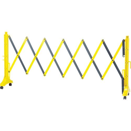 日本緑十字社 緑十字 伸縮式バリケード 黄/黒 高さ1m×幅0.5~3.5m 連結可能タイプ 116131