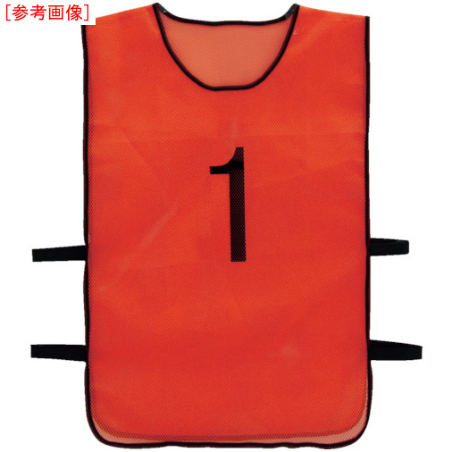 トラスコ中山 TRUSCO 番号安全ベスト 「1」~「10」各1枚セット オレンジ TBB10SET