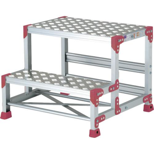 ピカコーポレイション ピカ 作業台 ZG-P型縞板仕様 2段 幅50cm高さ50cm ZG255P