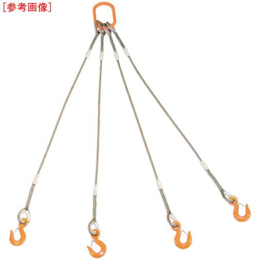 トラスコ中山 TRUSCO 4本吊りWスリング フック付き 6mmX3m GRE4P6S3