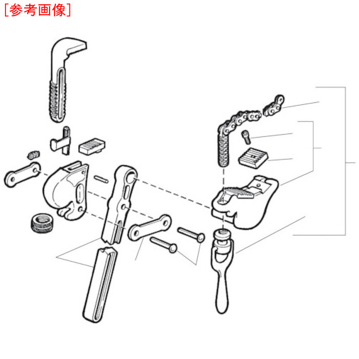 Ridge Tool Compan RIDGID F-205-X チェーン アッセン F/S-2 0095691321107