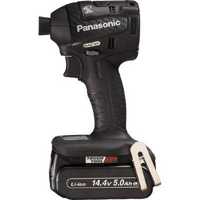 パナソニックエコソリューション Panasonic 充電インパクトドライバー 14.4V 5.0Ah 黒 EZ75A7LJ2FB