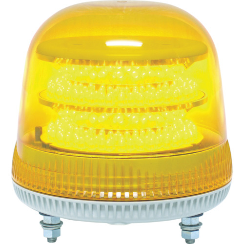 日惠製作所 NIKKEI ニコモア VL17R型 LED回転灯 170パイ 黄 VL17M024AY