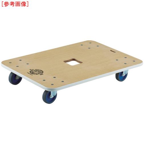 トラスコ中山 TRUSCO 木製平台車 ジュピター 800X550 φ75 200kg JUP800200