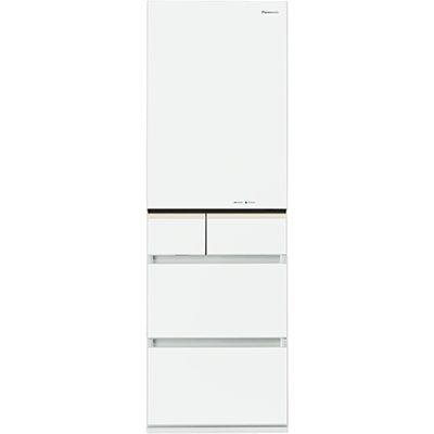 パナソニック 406L 5ドアトップユニット冷蔵庫 ナノイー搭載 NR-E413PV-W
