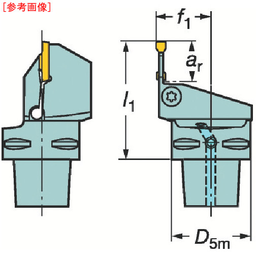 サンドビック サンドビック コロマントキャプト コロカット1・2用カッティングユニット C4LF123F1027050