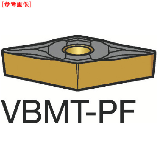サンドビック 【10個セット】サンドビック コロターン107 旋削用ポジ・チップ 5015 VBMT160402PF-2