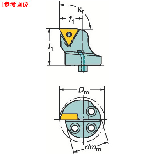 サンドビック サンドビック コロターンSL コロターン107用カッティングヘッド 570STFCR3216