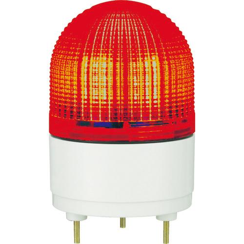 パトライト パトライト KHE型 LED表示灯 Φ100 点滅・流動・ストロボ発光 赤 KHE-24-R