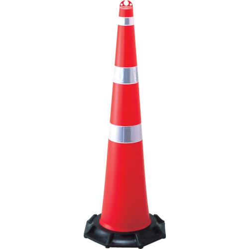 日本緑十字社 緑十字 ジャンボコーン(赤)・反射シート付 1420×480mm ウエイト付 116130