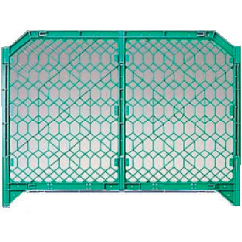 DICプラスチック 安全資材 DIC ディックSPフェンス 1500×1200 緑 DSPF1500GN