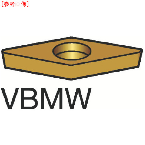 サンドビック 【10個セット】サンドビック コロターン107 旋削用ポジ・チップ H13A VBMW160404