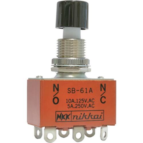 日本開閉器工業 NKKスイッチズ 押ボタンスイッチ はんだ端子 2極ON-(ON) SB61A