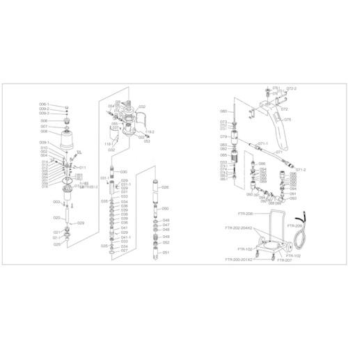 トラスコ中山 TRUSCO FTR65G用 シリンダー FTR008