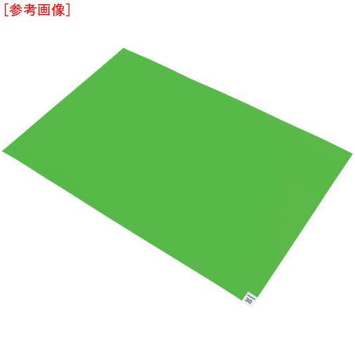 トラスコ中山 TRUSCO 粘着クリーンマット 600X900MM グリーン  (10枚入) CM609010GN