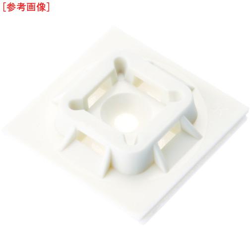 パンドウイットコーポレーション パンドウイット マウントベース アクリル系粘着テープ付き 白 (500個入) ABM100ATD