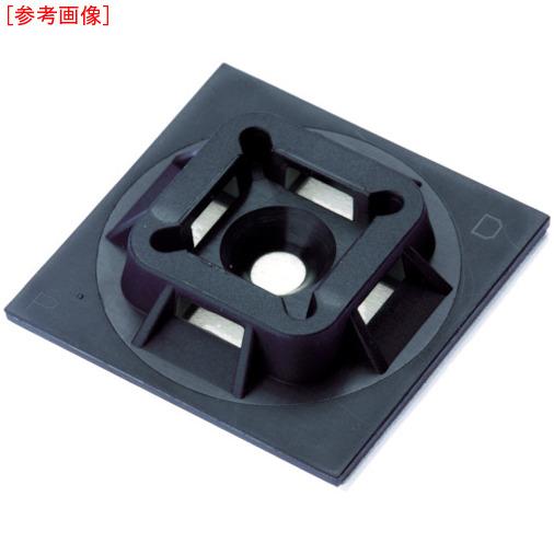 パンドウイットコーポレーション パンドウイット マウントベース アクリル系粘着テープ付き 耐候性黒(500個入) ABM100ATD0