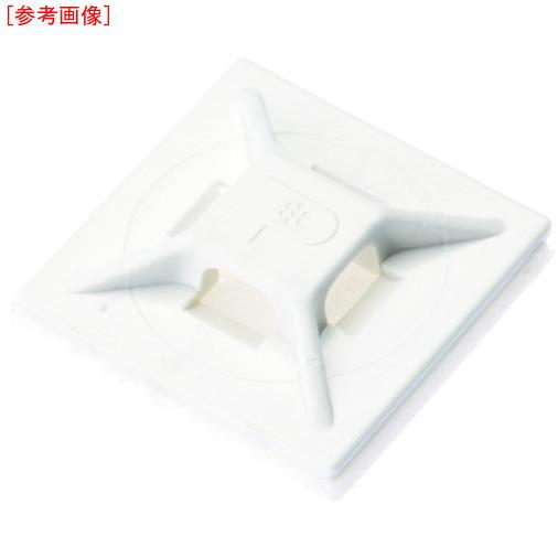 パンドウイットコーポレーション パンドウイット マウントベース アクリル系粘着テープ付き 白 (500個入) ABMMATD