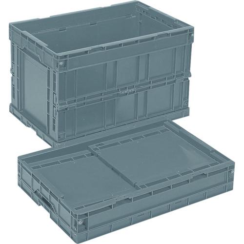 岐阜プラスチック工業 リス 折りたたみコンテナCB-S175C グレー CBS175C-8123GY