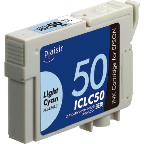 エレコム エレコム Plaisir 汎用インクカートリッジ ライトシアン エプソン用 PLEE50LCN2