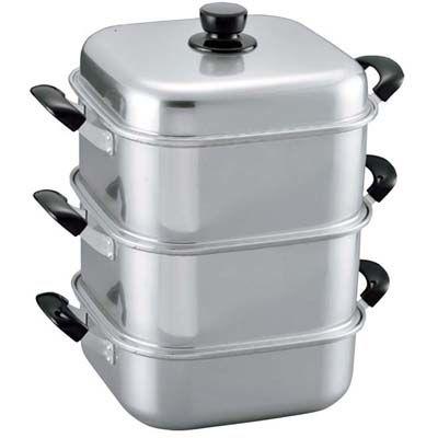 その他 アルマイト 角型蒸器 二重 36 EBM-4434590