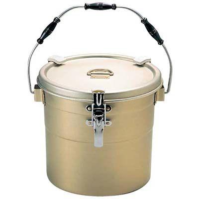 その他 しゅう酸アルマイト 丸型二重食缶(クリップ付)238-A 10L φ295×250 EBM-5749200