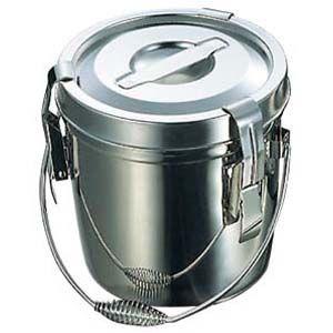 その他 18-8 フック付 ダブル食缶 6L(シリコンパッキン) EBM-7311110