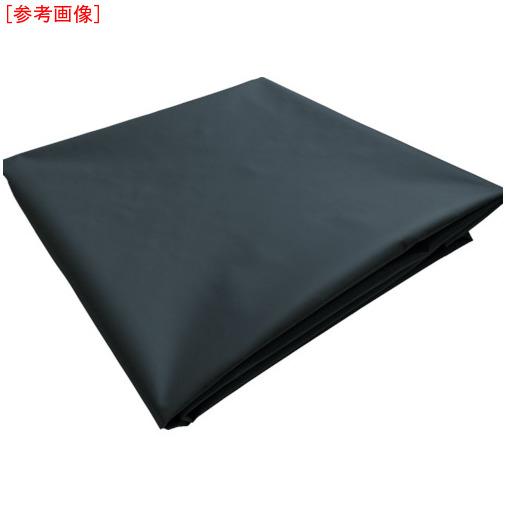 トラスコ中山 TRUSCO ターポリンシート ブラック 1800X3600 0.35mm厚 TPS1836BK