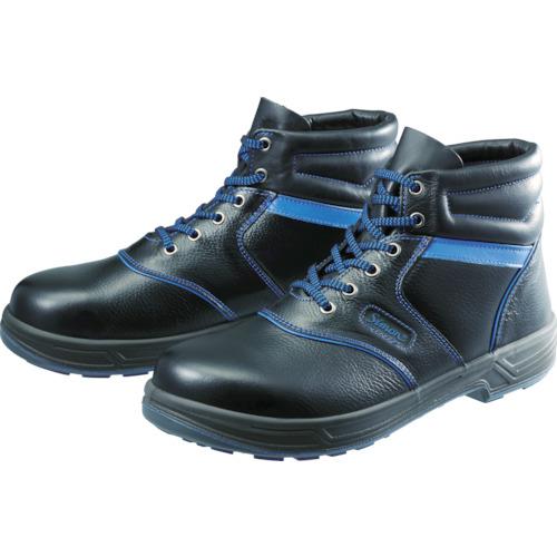 シモン シモン 安全靴 編上靴 SL22-BL黒/ブルー 24.0cm SL22BL24.0