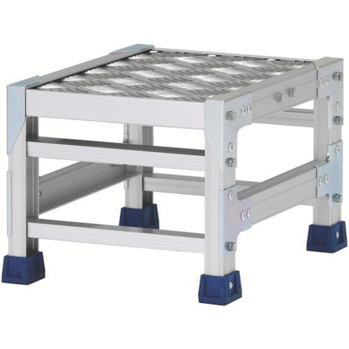 アルインコ アルインコ 作業台(天板縞板タイプ)1段 天板寸法300×400mm高0.25m CSBC123S